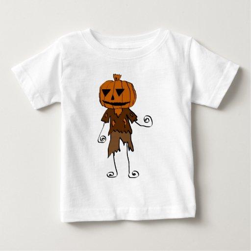 Calabaza de Halloween Playera De Bebé