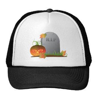 Calabaza de Halloween por el ejemplo de la piedra Gorro De Camionero
