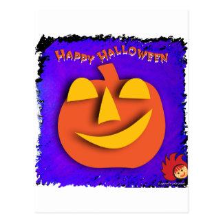 Calabaza de Halloween Postales
