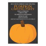 Calabaza de Halloween que talla invitaciones del Invitación 12,7 X 17,8 Cm