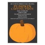 Calabaza de Halloween que talla invitaciones del f Invitacion Personalizada
