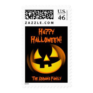 Calabaza de Halloween - sellos de encargo