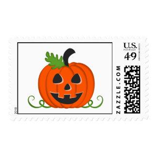Calabaza de Halloween Sellos Postales