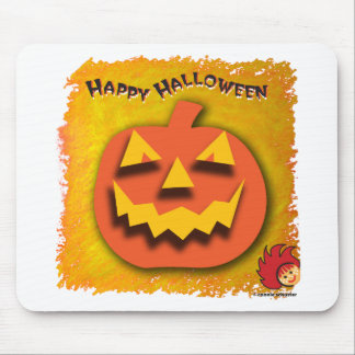 Calabaza de Halloween Tapetes De Ratón