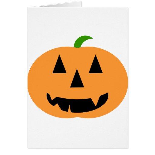 Calabaza de Halloween Tarjeta