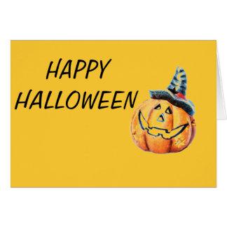 Calabaza de Halloween Tarjeta De Felicitación
