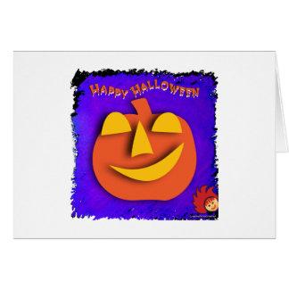 Calabaza de Halloween Tarjeta Pequeña