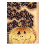 Calabaza de Halloween Tarjeta Postal