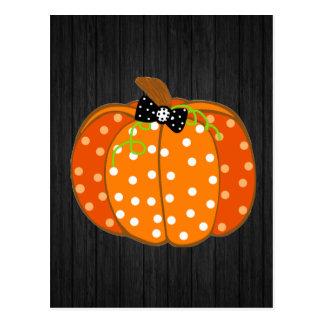 Calabaza de Halloween Postal