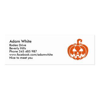 Calabaza de Halloween Tarjetas De Visita Mini