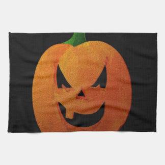 Calabaza de Halloween Toalla De Cocina