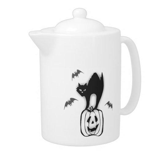 Calabaza de Halloween y gato negro