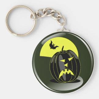 calabaza de Halloween y palo delante de la luna am Llavero Personalizado