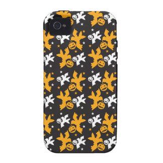 Calabaza de Halloween y repetición linda del model iPhone 4 Carcasas