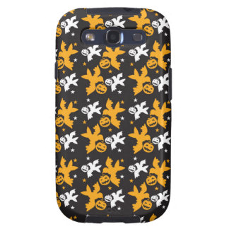 Calabaza de Halloween y repetición linda del model Galaxy S3 Protectores