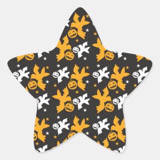 Calabaza de Halloween y repetición linda del Colcomanias Forma De Estrella Personalizadas