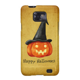Calabaza de la bruja del feliz Halloween Samsung Galaxy S2 Fundas