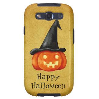 Calabaza de la bruja del feliz Halloween Galaxy SIII Fundas