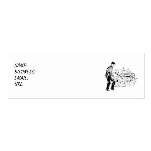 Calabaza de la granja - flaca tarjetas de negocios