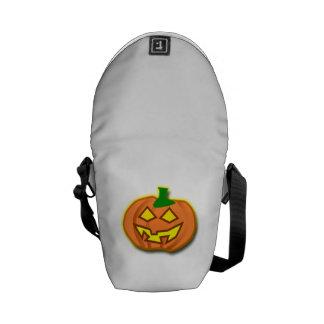 Calabaza de la Jack-o-Linterna de Halloween Bolsa De Mensajeria