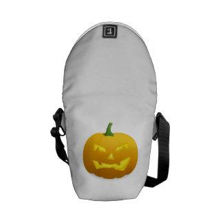 Calabaza de la Jack-o-Linterna de Halloween Bolsa Messenger