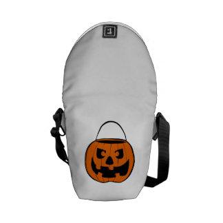 Calabaza de la Jack-o-Linterna de Halloween Bolsa De Mensajería