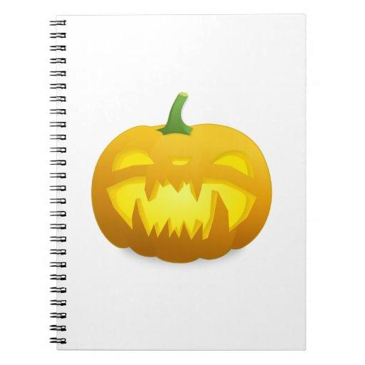 Calabaza de la Jack-o-Linterna de Halloween Libros De Apuntes