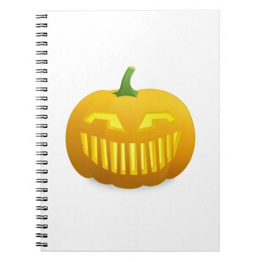 Calabaza de la Jack-o-Linterna de Halloween Notebook