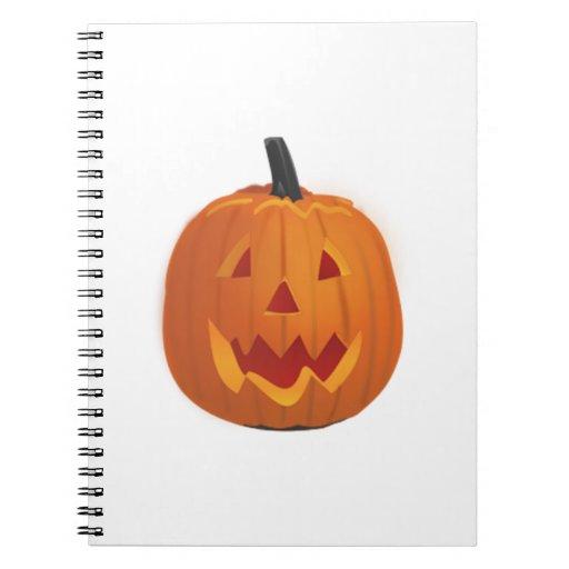 Calabaza de la Jack-o-Linterna de Halloween Spiral Notebooks