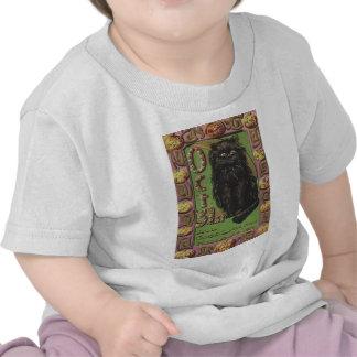 Calabaza de la linterna de Jack O del gato negro Camiseta