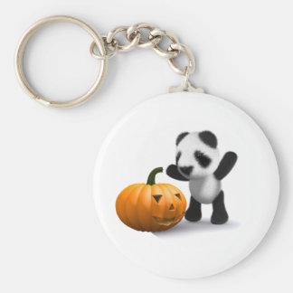 calabaza de la panda del bebé 3d llaveros