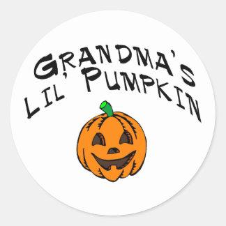 Calabaza de Lil de las abuelas Etiquetas Redondas