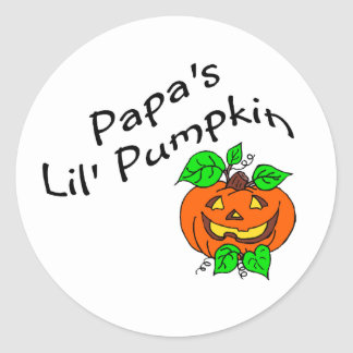 Calabaza de Lil de las papás Pegatinas Redondas