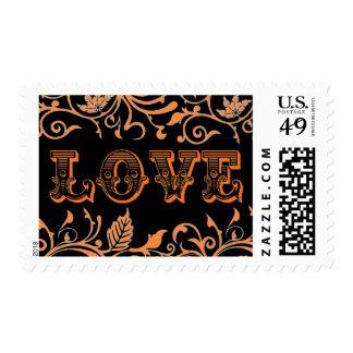 Calabaza de los temas del amor del diseñador de estampilla