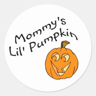 Calabaza de Mommys Lil Etiquetas Redondas