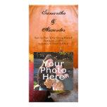 Calabaza de otoño, Apple y hojas coloridas Plantilla Para Tarjeta De Foto