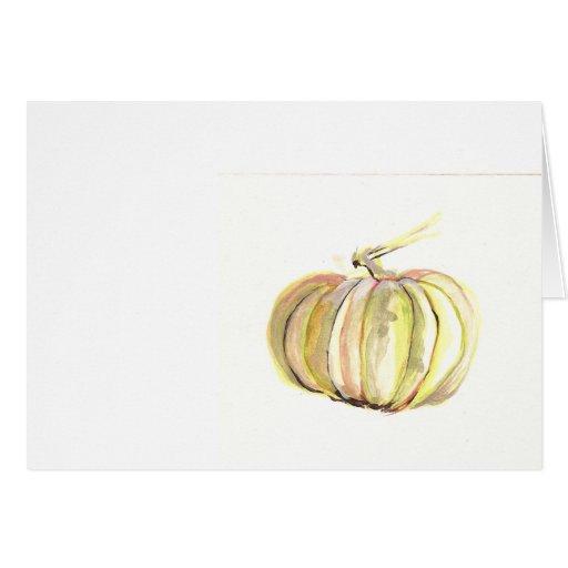 calabaza de otoño tarjeta pequeña