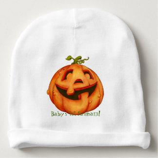 Calabaza de risa de Halloween personalizada Gorrito Para Bebe