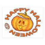 Calabaza de risa linda del feliz Halloween Postal