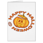 Calabaza de risa linda del feliz Halloween Tarjeta
