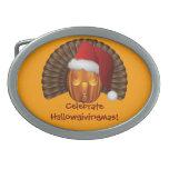 Calabaza de Turquía con un gorra Hallowgivingmas d Hebillas Cinturon