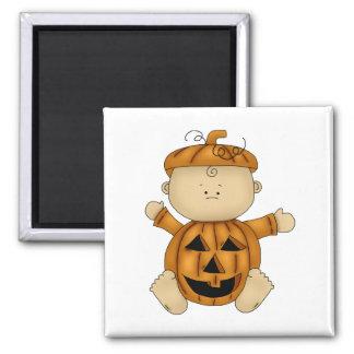 Calabaza del bebé de Halloween Imán Cuadrado