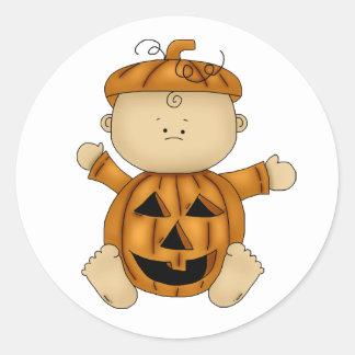 Calabaza del bebé de Halloween Pegatina Redonda