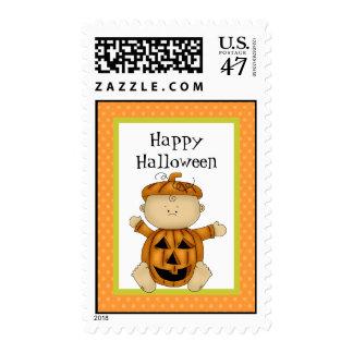 Calabaza del bebé del feliz Halloween Sello Postal