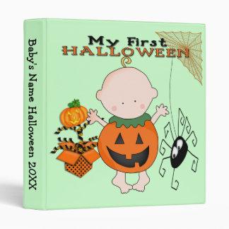 """Calabaza del bebé mi 1r Halloween 1"""" carpeta"""