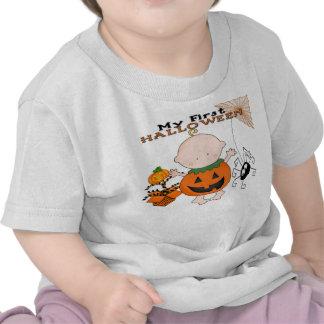 Calabaza del bebé mi 1ra camiseta del niño de Hall