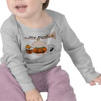 Calabaza del bebé mi 1ra manga larga infantil T de Camisetas