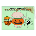 Calabaza del bebé mi 1ra tarjeta de felicitación d