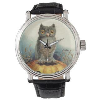 Calabaza del búho reloj de mano