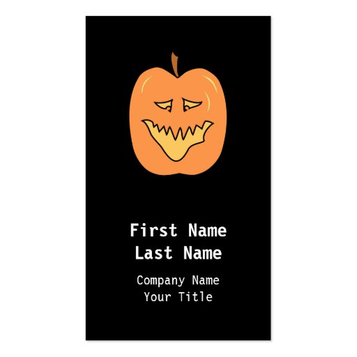 Calabaza del dibujo animado. Halloween Tarjetas De Visita